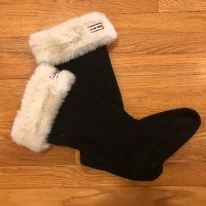 Hunter faux fur boot warm liners
